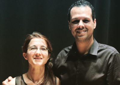 "With Anna D'Errico after the premiere of ""concentration & reset"" for piano solo - Valencia, Spain 07/18/2018"
